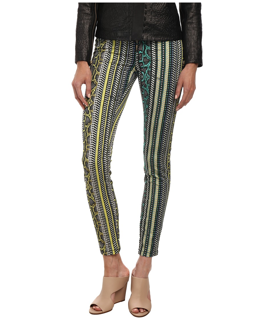 Just Cavalli - Mixed Print Leggings (Black Variant) Women's Casual Pants