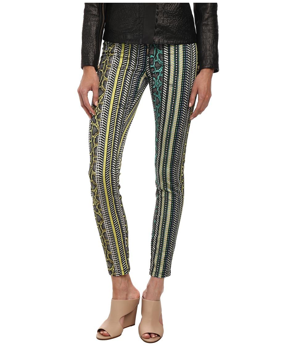 Just Cavalli - Mixed Print Leggings (Black Variant) Women's Casual Pants