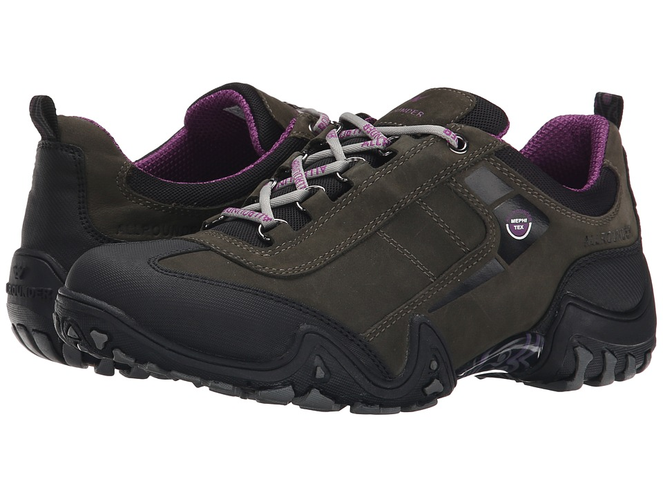 Allrounder by Mephisto - Fina Tex (Black Rubber/Mid Grey G Nubuck) Women's Lace up casual Shoes
