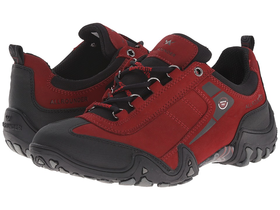 Allrounder by Mephisto Fina Tex (Black Rubber/Mid Red G Nubuck) Women