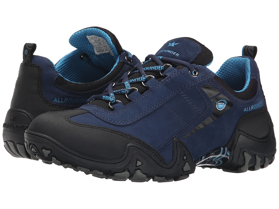 Allrounder by Mephisto - Fina Tex (Black Rubber/Blue G Royal) Women's Lace up casual Shoes