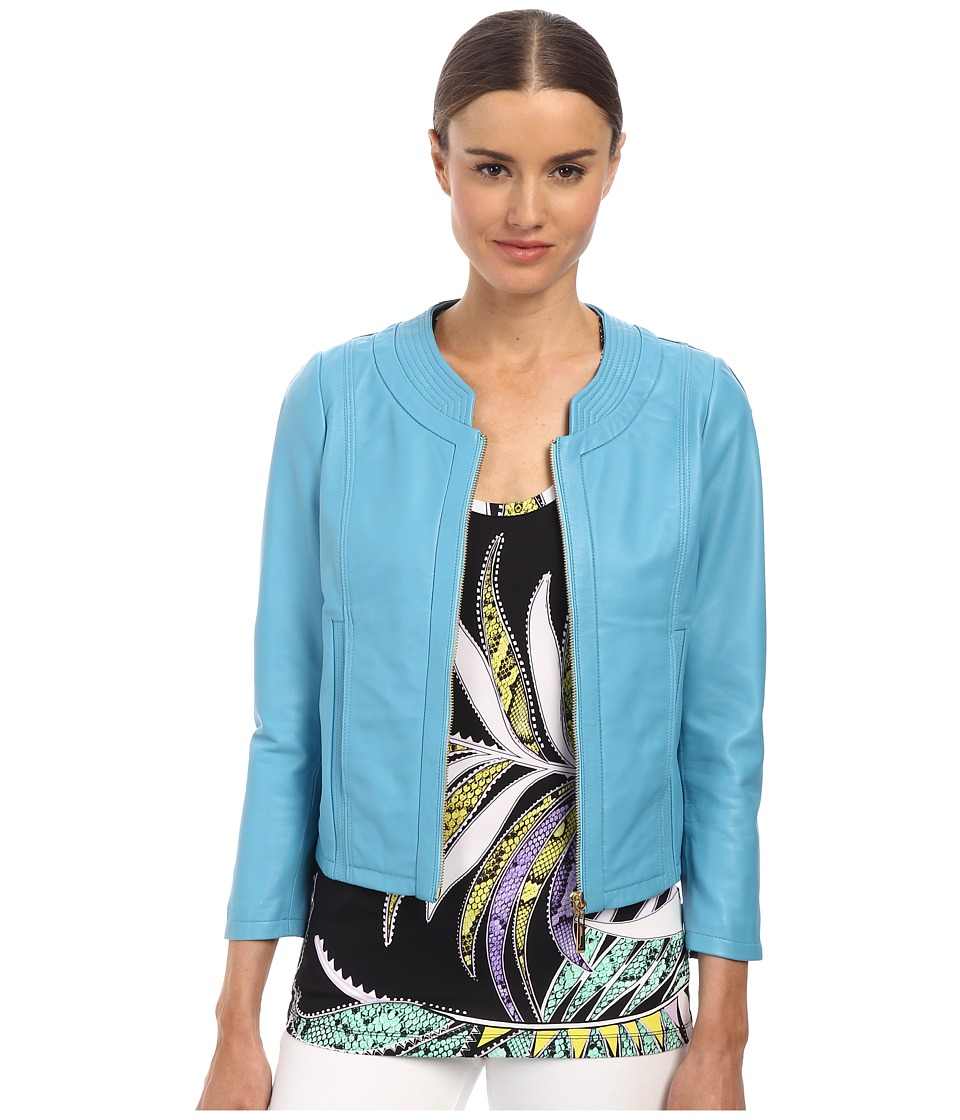 Just Cavalli - S04AM0126N08101 (Light Blue) Women's Coat