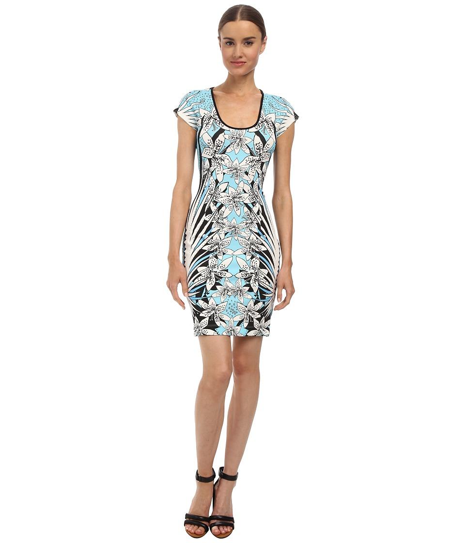 Just Cavalli - S04CT0357N20852 (Light Blue Variant) Women's Dress