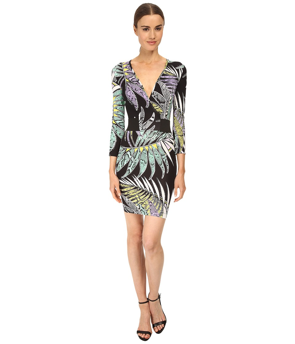 Just Cavalli - Printed Long Sleeve Dress (Black Variant) Women's Dress