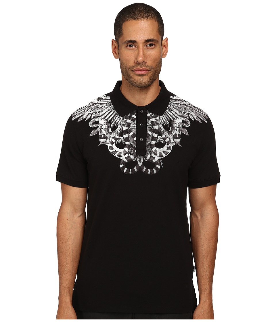 Just Cavalli - Secret Emblem Polo (Black) Men's Clothing