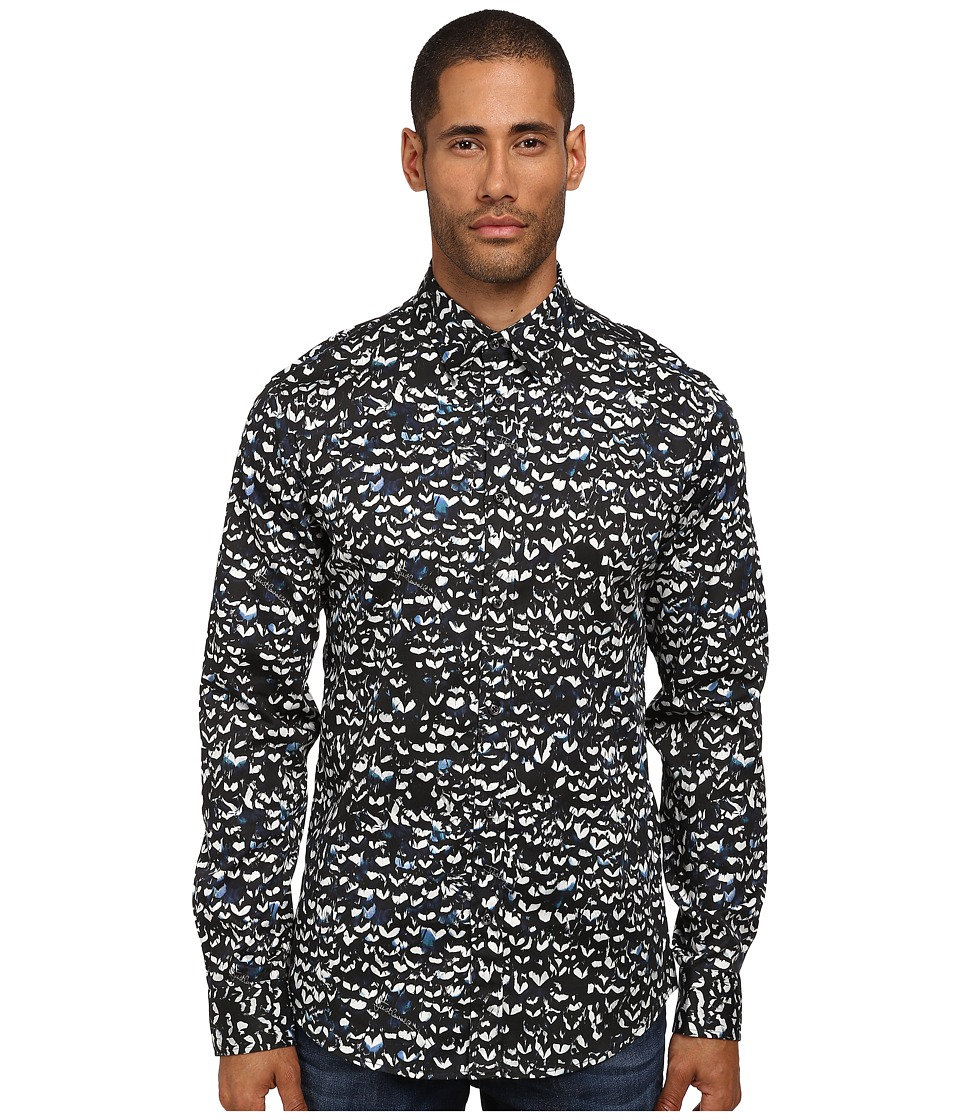 Just Cavalli - Barley Corn Plume Button Up (Blue Variant) Men's Clothing