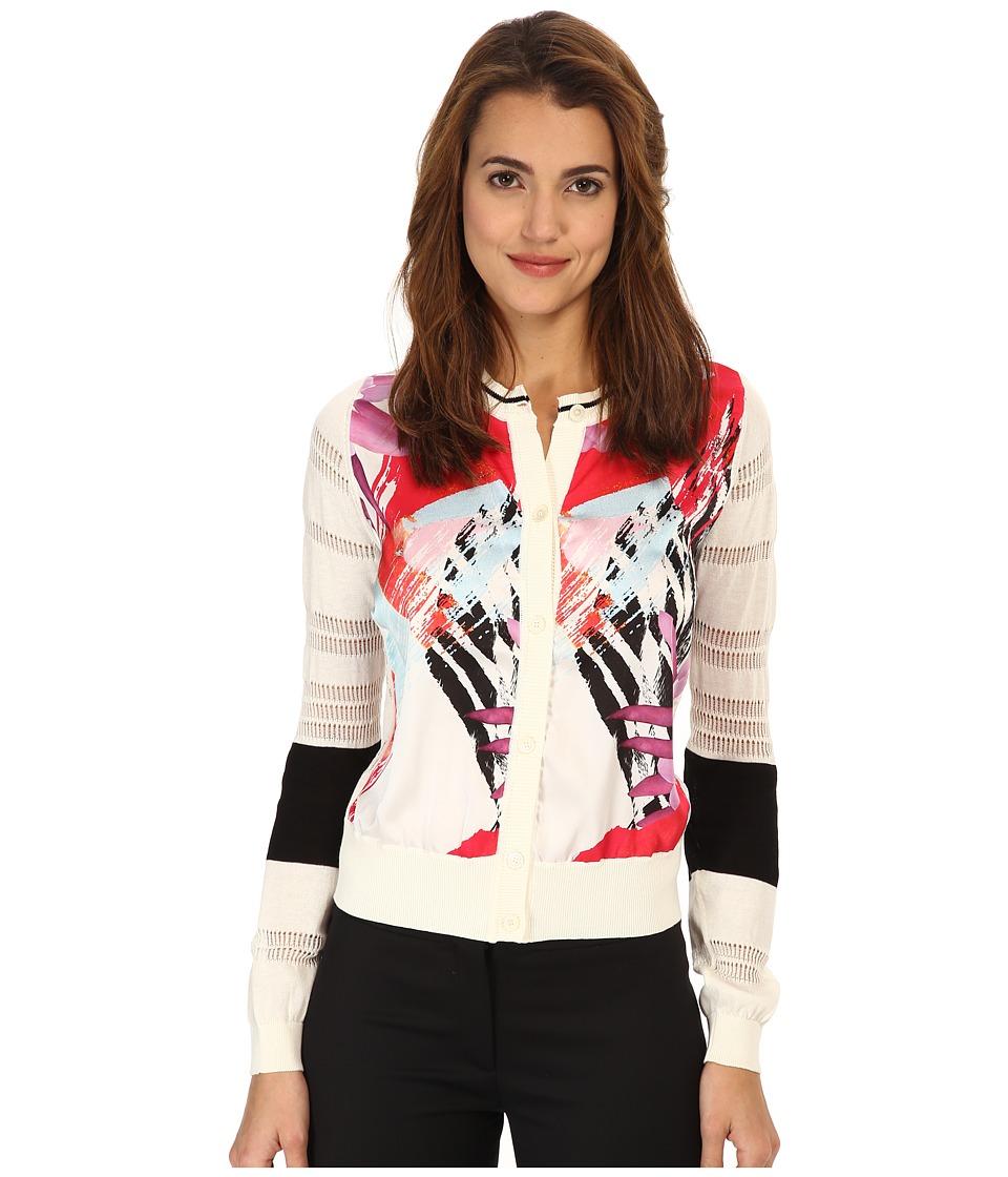 Just Cavalli - S04HA0152N14383 (Optical White) Women's Sweater