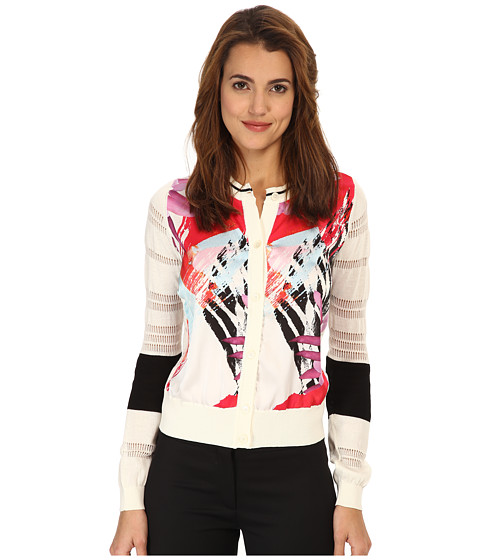 Just Cavalli - S04HA0152N14383 (Optical White) Women's Sweater