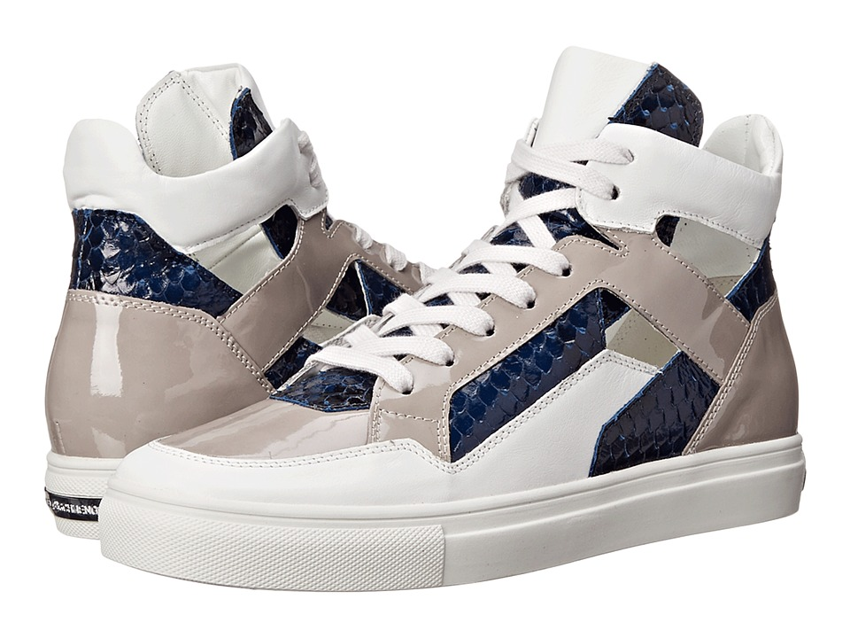 Kennel & Schmenger - Basket High Top Sneaker (White/Pacific) Women