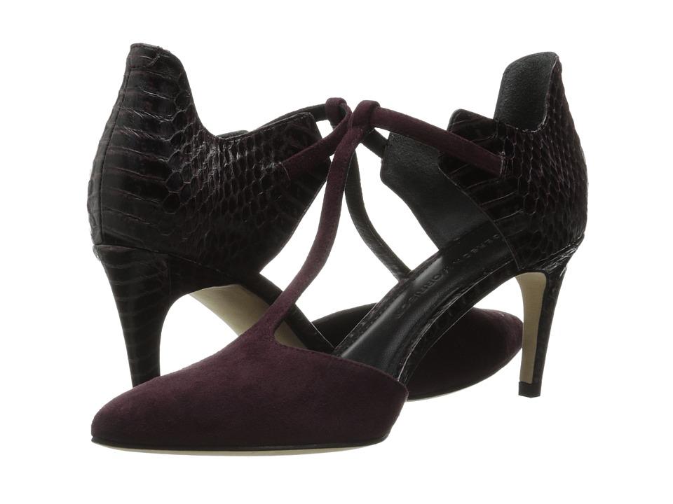 Sigerson Morrison Sazie 2 (Dark Purple Suede/Snake) High Heels