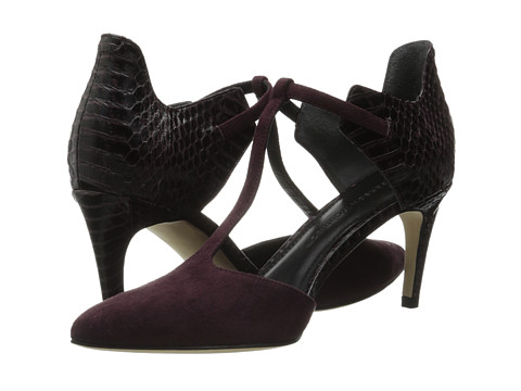 Sigerson Morrison - Sazie 2 (Dark Purple Suede/Snake) High Heels