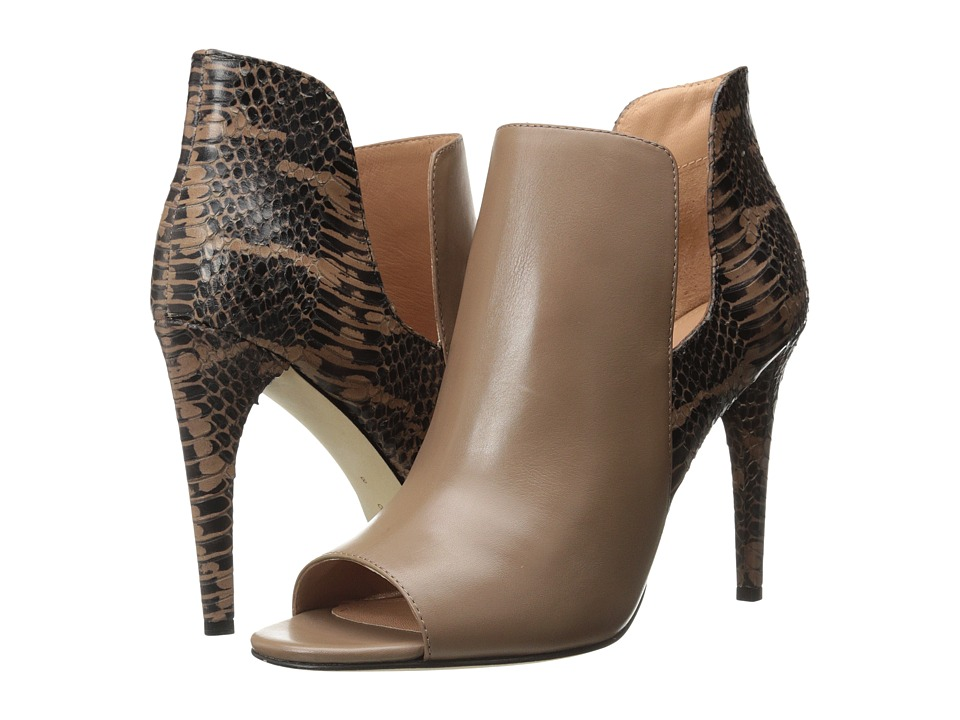 Sigerson Morrison - Mance 2 (Doe Leather/Taupe Snake) High Heels