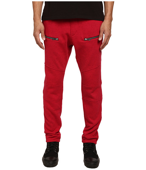 Just Cavalli - Motorcycle Jogger Sweatpants (Red) Men's Casual Pants