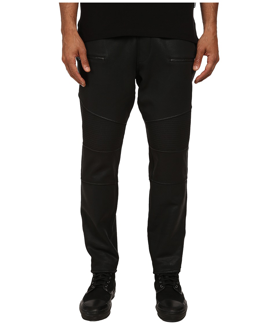 Just Cavalli - Coated Motorcycle Jogger Pants (Black) Men's Casual Pants
