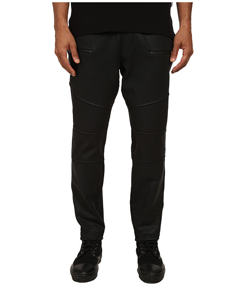 Just Cavalli - Coated Motorcycle Jogger Pants (Black) Men