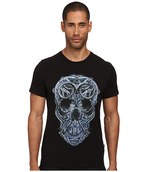Just Cavalli - Skull Of Serpents Tee (Black) Men's T Shirt