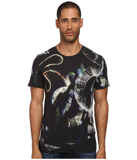 Just Cavalli - Wild At Heart Tee (Blue Navy Variant) Men's T Shirt