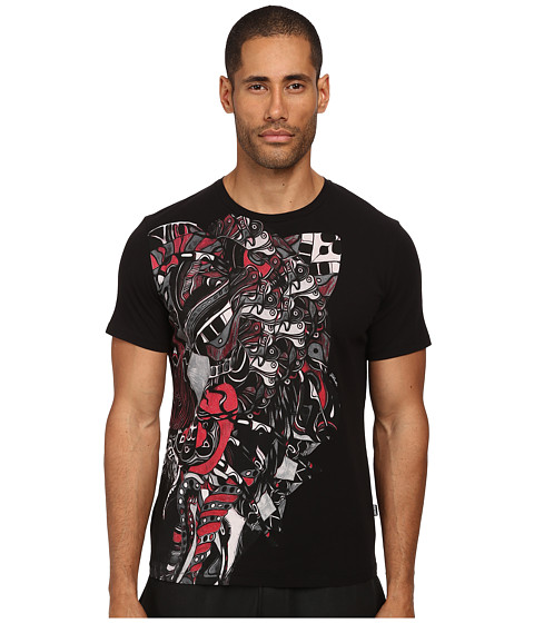 Just Cavalli - Abstract Mechanical Tee (Black) Men's T Shirt