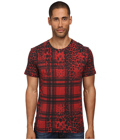 Just Cavalli - Buffalo Rebellion Tee (Red Variant) Men's T Shirt