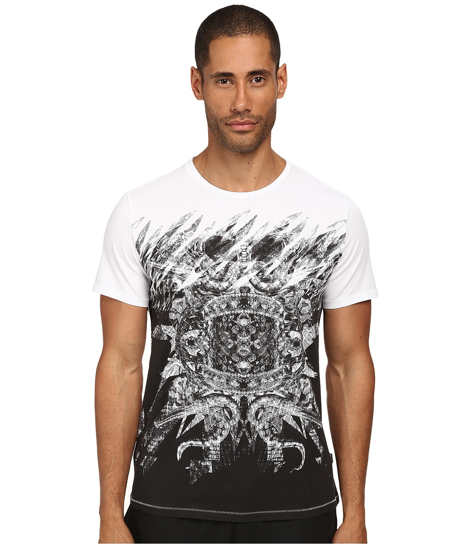 Just Cavalli - Mirrored Baroque Ring Tee (White) Men