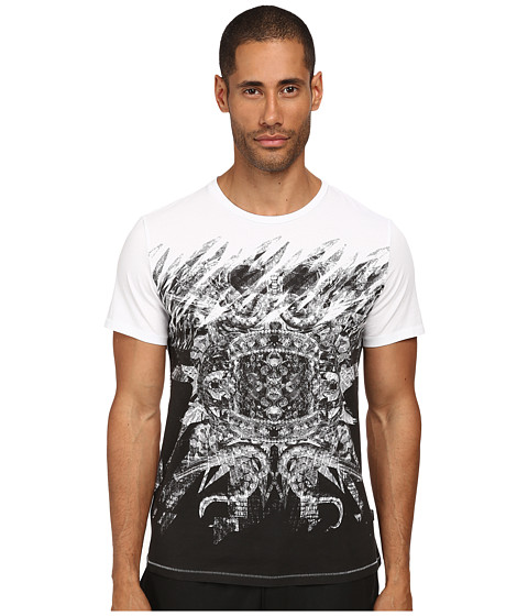 Just Cavalli - Mirrored Baroque Ring Tee (White) Men's T Shirt
