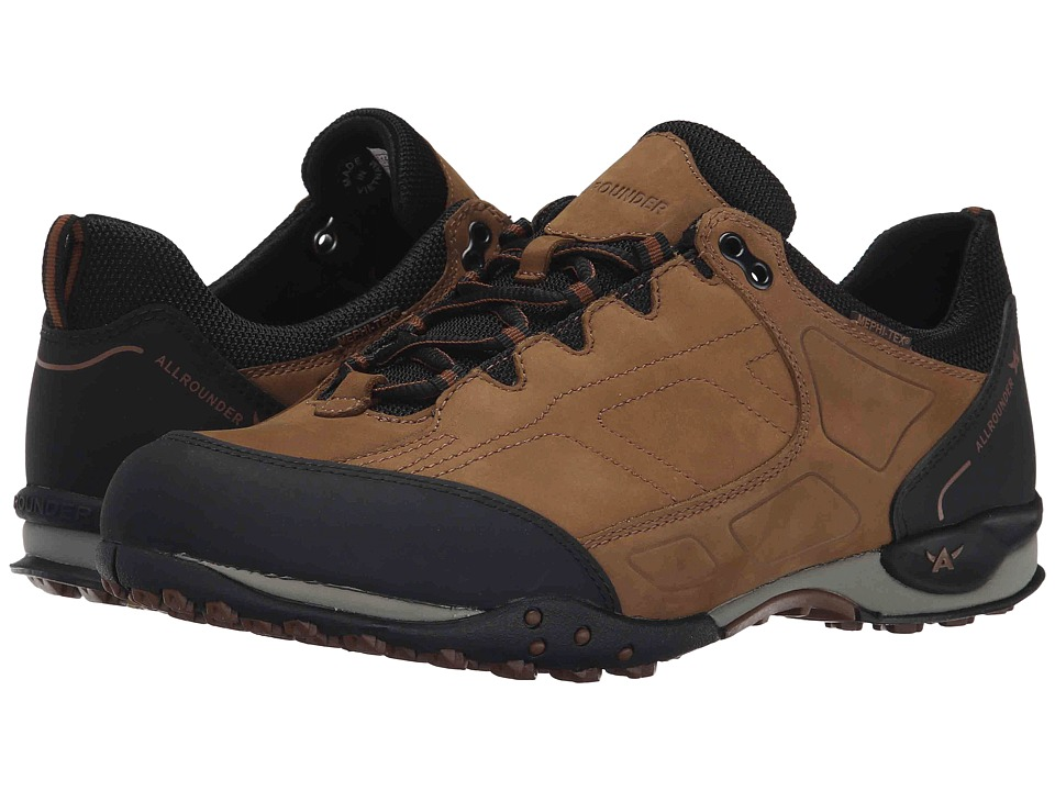Allrounder by Mephisto - Talido Tex (Black Rubber/Rust Ori) Men's Lace up casual Shoes