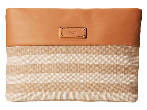 UGG - Devan Clutch (White/Walnut) Clutch Handbags