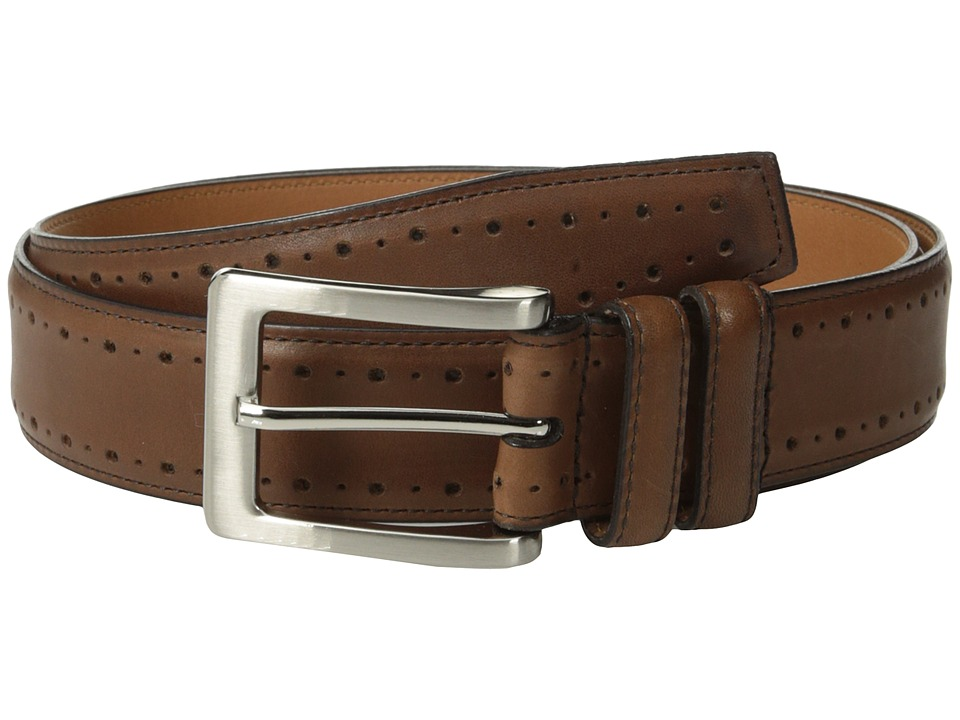 Johnston & Murphy - Perforated Edge (Tan) Men's Belts