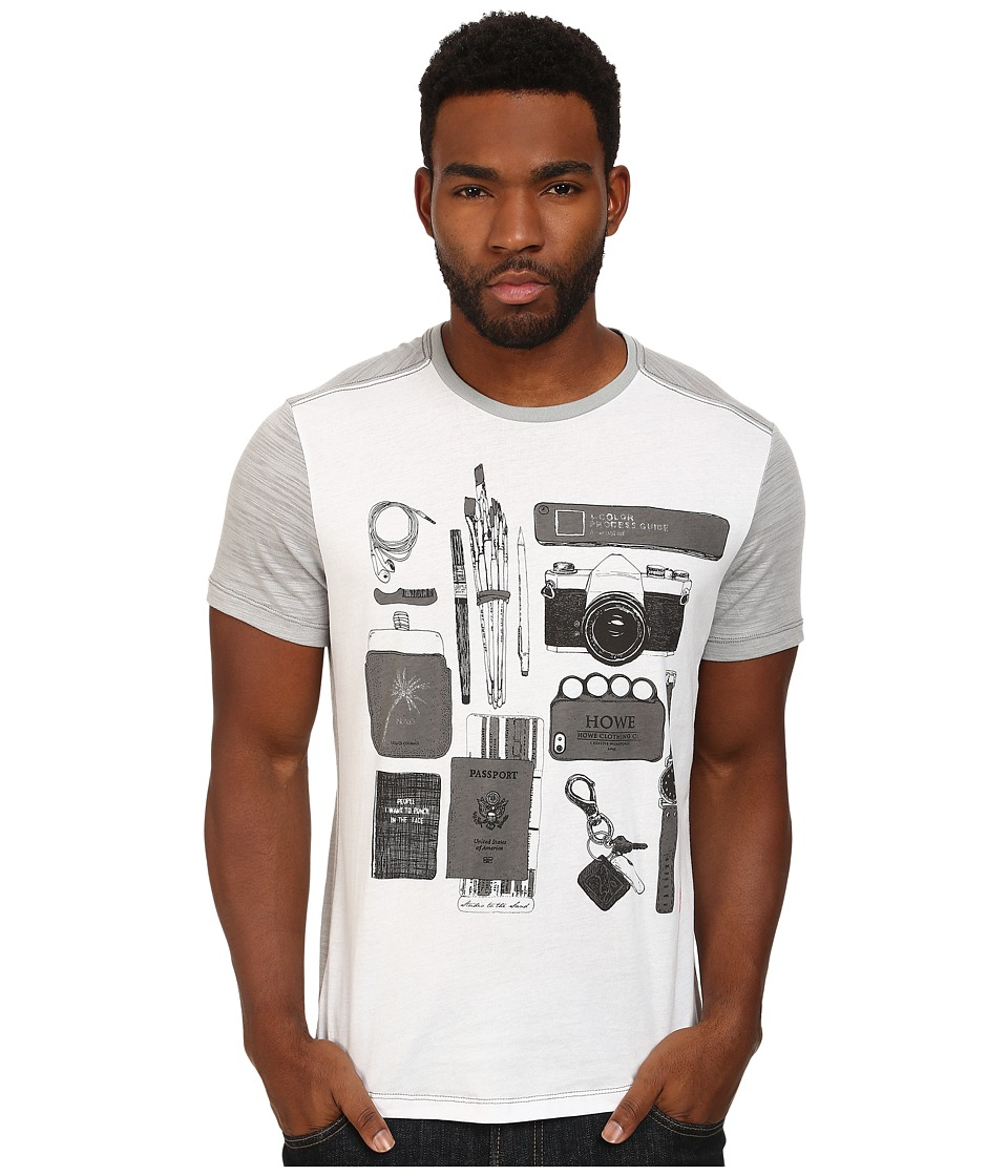 Howe - Objects Graphic Tee (White/Heather Grey) Men