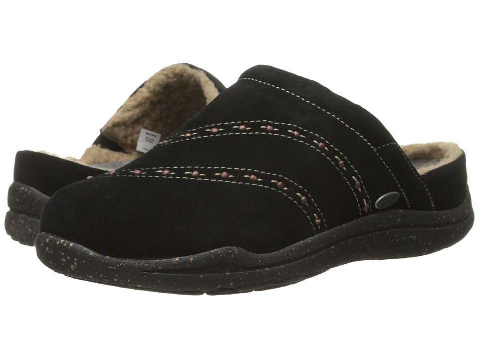 Acorn - WearAbout Beaded Clog w/ FirmCore (Black) Women's Slippers