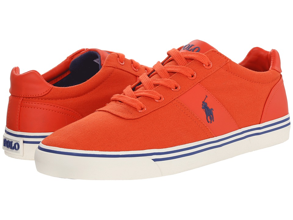 Polo Ralph Lauren - Hanford (Deco Orange Canvas) Men's Lace up casual Shoes