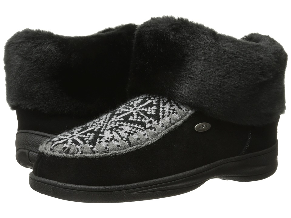 Acorn - Mt. Kineo Boot (Nordic/Black) Women's Slippers