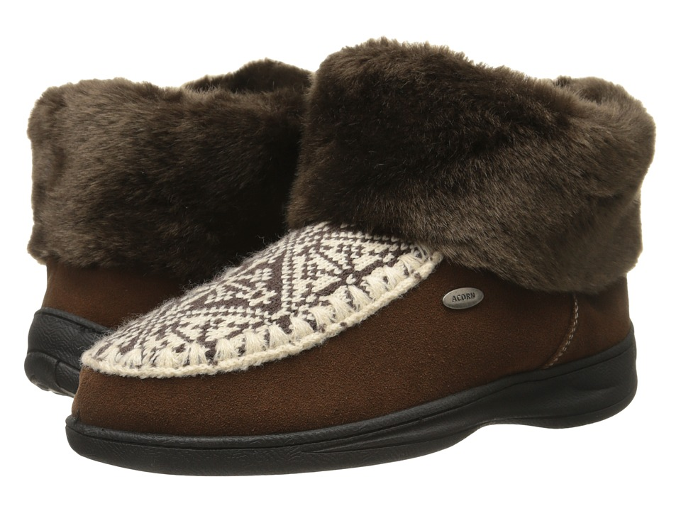 Acorn - Mt. Kineo Boot (Nordic/Mink) Women's Slippers