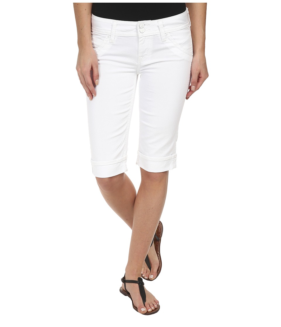 Hudson - Palerme Knee Cuffed Shorts in White (White) Women's Shorts