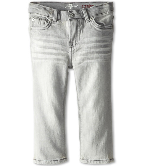 7 For All Mankind Kids - Straight Leg Standard Jeans in Ghost Grey (Infant) (Ghost Grey) Boy