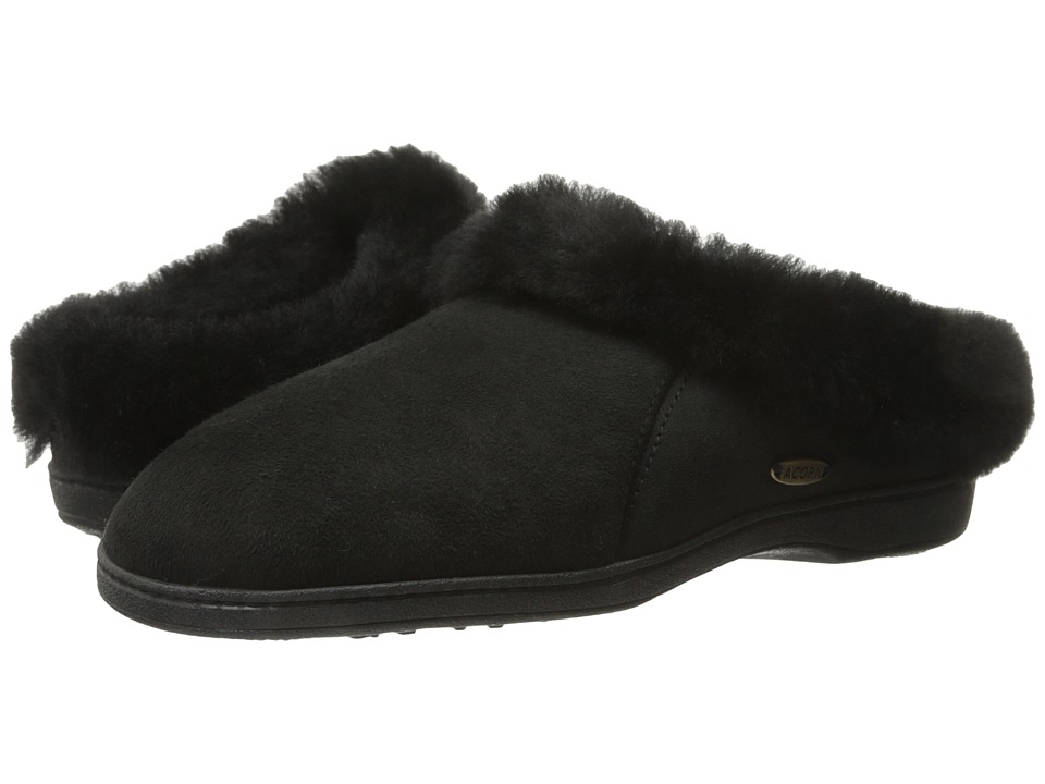 Acorn - Ewe Collar (Coal) Women's Slippers