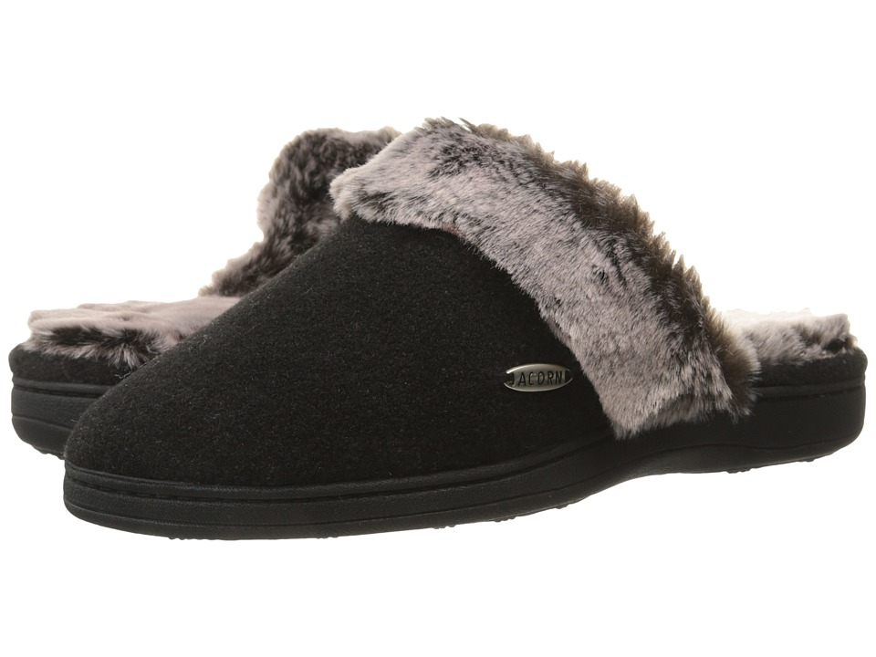 Acorn - Chinchilla Scuff (Black) Women's Slippers