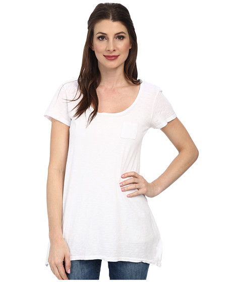 Fresh Produce - Vintage Slub Drape Tee (White) Women