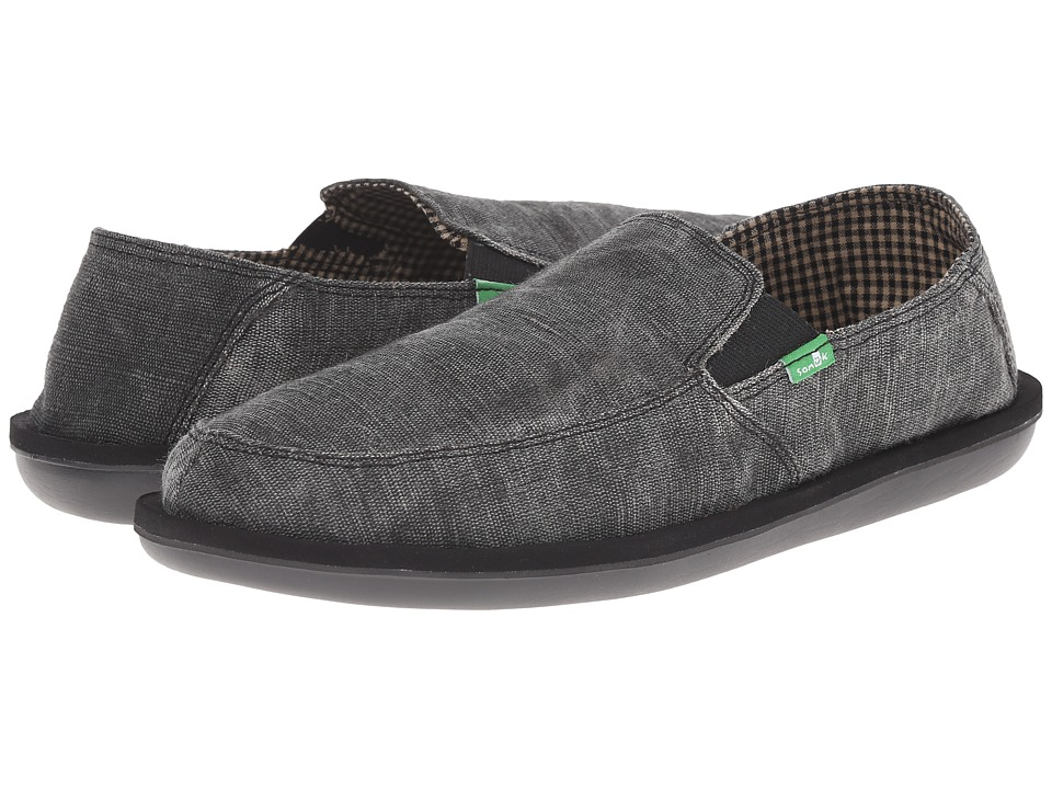 Sanuk - Vice (Black Vintage) Men's Slip on Shoes