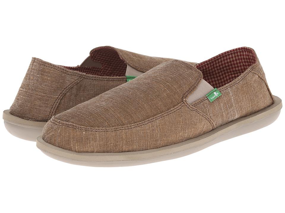 Sanuk - Vice (Brown Vintage) Men's Slip on Shoes