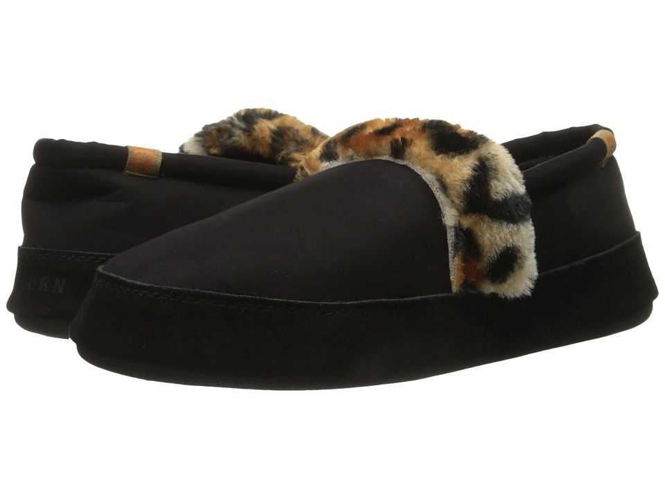 Acorn - Moc Wildside (Black) Women's Slippers