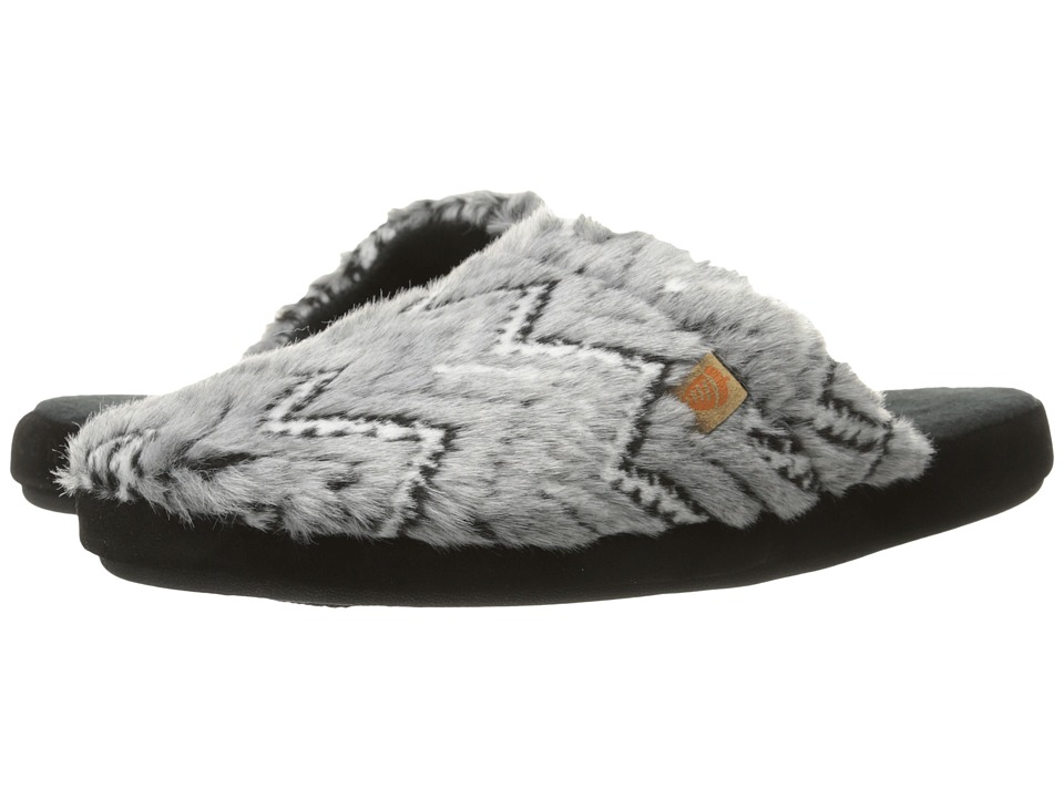 Acorn - Scuff (Grey Zig Zag) Women's Slippers