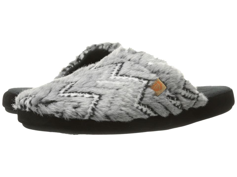 Acorn - Scuff (Grey Zig Zag) Women's Slippers