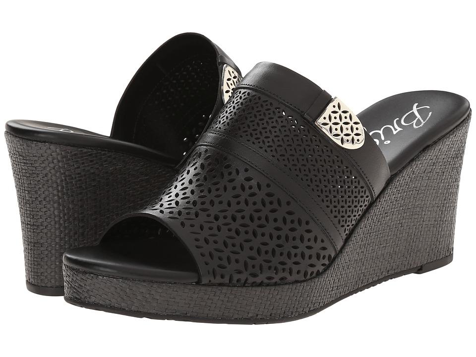 Brighton - Dali (Black) Women's Wedge Shoes