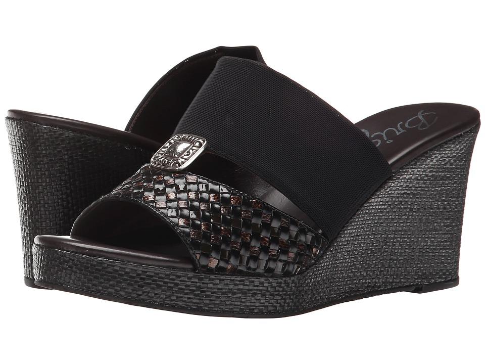 Brighton - Delta (Black/Chocolate) Women's Wedge Shoes
