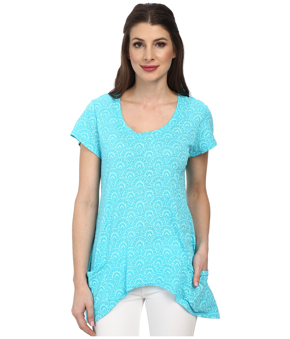 Fresh Produce - Fanfare Twin Peaks Top (Luna Turquoise) Women's Clothing