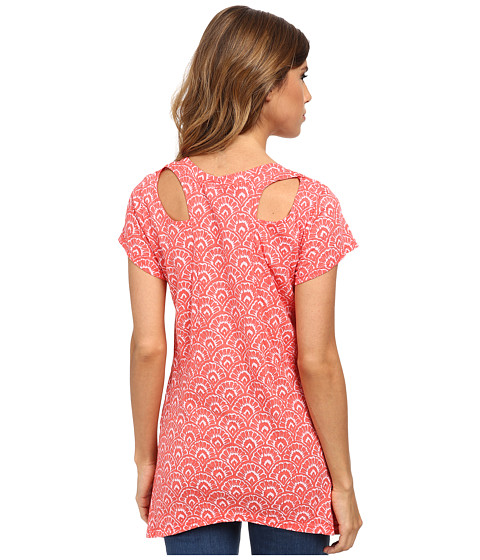 Fresh Produce - Fanfare Twin Peaks Top (Red Coral) Women