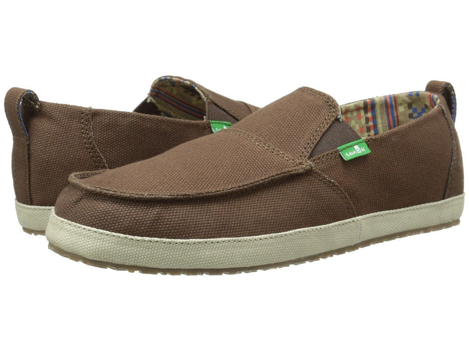 Sanuk - Commodore (Brown/Tan) Men's Slip on Shoes