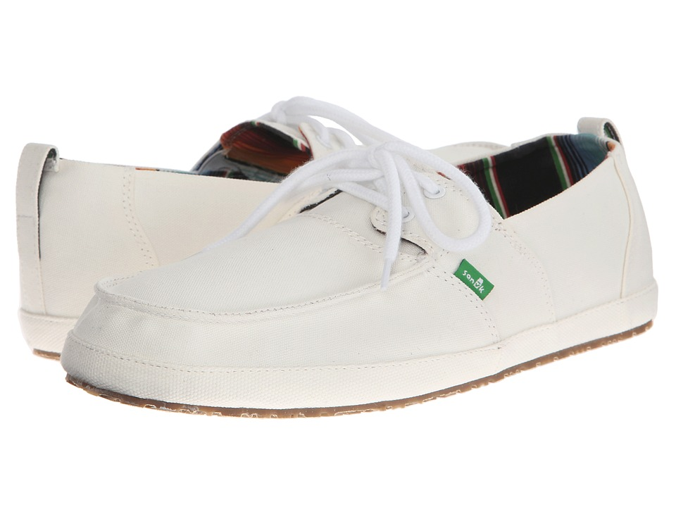 Sanuk - Admiral (White) Men's Slip on Shoes