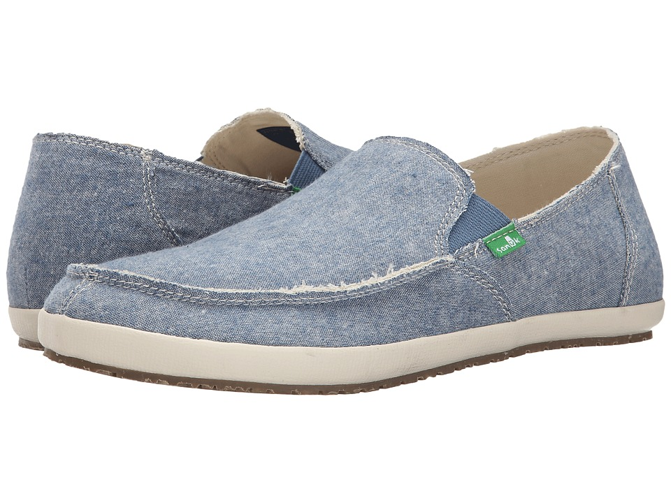 Sanuk - Rounder Hobo TX (Blue Chambray) Men's Slip on Shoes